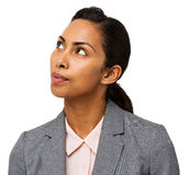 Thoughtful Businesswoman Looking Up Royalty Free Stock Photos