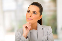 Thoughtful businesswoman office Royalty Free Stock Images