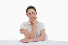 Thoughtful businesswoman sitting Stock Photography