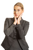 Thoughtful businesswoman Royalty Free Stock Photography