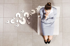 Thoughtful businesswoman Stock Images