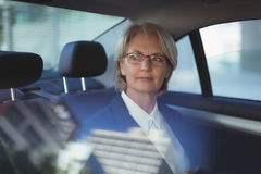 Thoughtful businesswoman traveling in car Stock Image