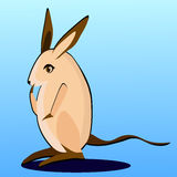 Thoughtful cartoon hopping mouse Royalty Free Stock Photography