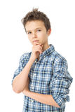 Thoughtful Charming Teenage Boy Royalty Free Stock Photography