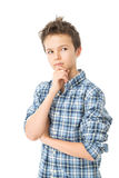 Thoughtful Charming Teenage Boy Royalty Free Stock Photos
