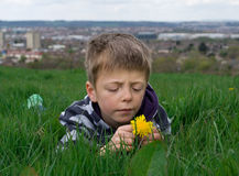 Thoughtful child. Royalty Free Stock Images