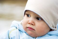 Thoughtful child Stock Photo