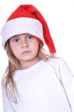 Thoughtful Christmas child Royalty Free Stock Image