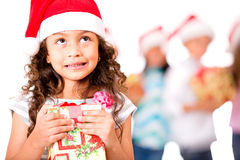 Thoughtful Christmas girl Royalty Free Stock Photo