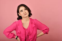 Free Thoughtful Confused And Dizzy Asian Woman, Girl`s Face Expression Feeling Worry. Stock Photography - 183990402