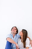 Thoughtful couple Royalty Free Stock Photography