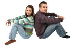 Thoughtful Couple Royalty Free Stock Images