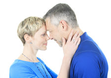 A Thoughtful couple hugging Stock Photography