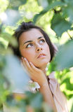 Thoughtful cute girl Royalty Free Stock Photos