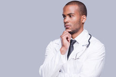 Thoughtful doctor. Royalty Free Stock Photography