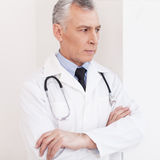 Thoughtful doctor. Royalty Free Stock Images