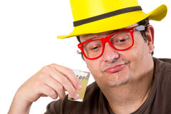 Thoughtful drinking Royalty Free Stock Photos