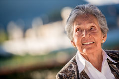 Thoughtful elder woman Royalty Free Stock Photography