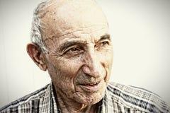 Thoughtful elderly man Stock Image