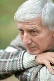 Thoughtful elderly man Royalty Free Stock Images
