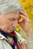Thoughtful elderly man Stock Photos