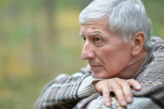 Thoughtful elderly man Royalty Free Stock Photo