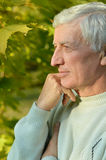Thoughtful elderly man Royalty Free Stock Photography
