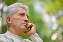Thoughtful elderly man Royalty Free Stock Photos