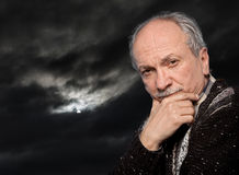 Thoughtful elderly man Royalty Free Stock Photo