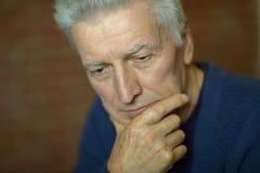 Thoughtful  elderly man Royalty Free Stock Photography