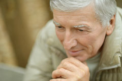 Thoughtful elderly man Stock Photos