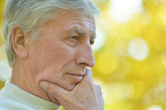 Thoughtful elderly man Royalty Free Stock Image