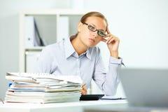 Thoughtful employee Royalty Free Stock Photography