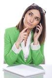 Thoughtful executive secretary Royalty Free Stock Images
