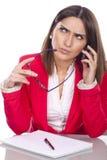 Thoughtful executive secretary Stock Image