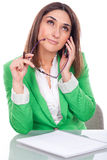 Thoughtful executive woman Royalty Free Stock Photos