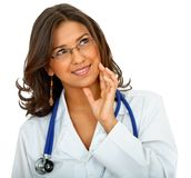 Thoughtful female doctor Stock Image