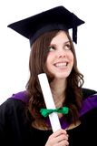 Thoughtful female graduate Royalty Free Stock Image