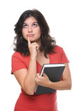 Thoughtful female student Royalty Free Stock Photos