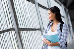 Thoughtful female student Royalty Free Stock Photography