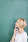 Thoughtful female student Stock Image
