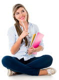 Thoughtful female student Stock Photo