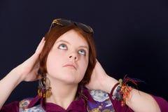 Thoughtful girl Stock Photos
