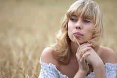 Thoughtful girl Stock Photography