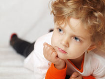 Thoughtful girl Stock Photography