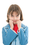 Thoughtful girl Royalty Free Stock Photos