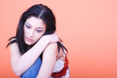 Thoughtful girl Royalty Free Stock Images