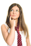 Thoughtful girl Royalty Free Stock Photography