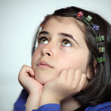 Thoughtful girl Royalty Free Stock Image