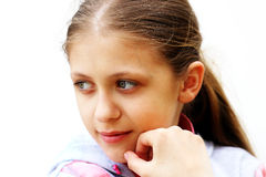 Thoughtful girl Royalty Free Stock Photo